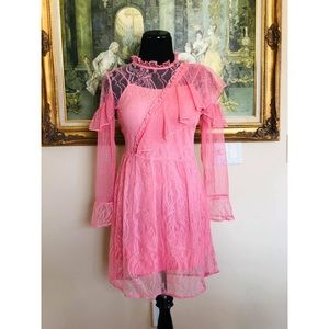 Pink Pretty Lace Dress